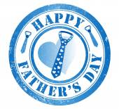 Happy fathers day stamp — Stock Photo