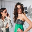 Постер, плакат: Women in fashion atelier haute couture