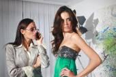 Women in fashion atelier haute couture — Stock Photo