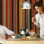 Couple having healty breakfast l — Stock Photo #54143865