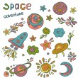 Space doodle icons — Stock Vector #54290995