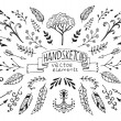 Hand Drawn vintage floral elements — Stock Vector #54291081
