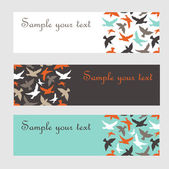 Banners with birds. — Stock Vector