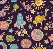 Pattern - space adventure — Vector de stock
