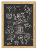 Set icons - Back to school — Vecteur