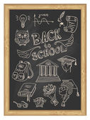 Set icons - Back to school — Stock vektor