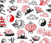 Asian icons — Stockvektor