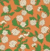 Vintage texture with chrysanthemums. — Vetorial Stock