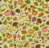 Fall season seamless pattern — Vettoriale Stock