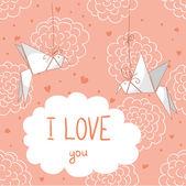 Carta di amore — Vettoriale Stock