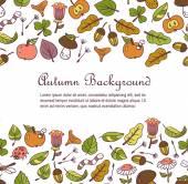 秋のシーズンの背景 — ストックベクタ