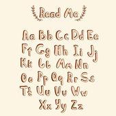Alfabeto doodle — Vector de stock