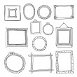 Set of hand drawn vector frames — Vector de stock  #58429979