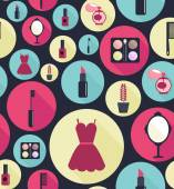 Fashion vector flat icons for woman — 图库矢量图片