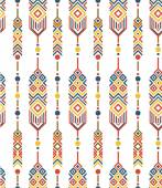 Feathers with ethnic pattern — Wektor stockowy