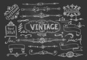 Decorative Vintage Elements — Stock Vector