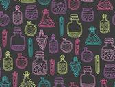 Alchemy magic pattern — Stock Vector