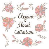 Vintage floral set — Stock Vector