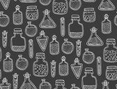 Alchemy seamless pattern — Stock Vector