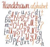 Hand drawn alphabet — Stock Vector