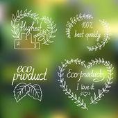 Etiquetas eco y bio — Vector de stock