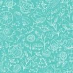 Tea, birds and flowers pattern — Stock Vector #63676101