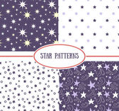Star seamless patterns — Vettoriale Stock