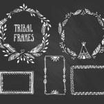 Tribal wreaths and frames — Stock Vector #65273119