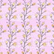 Spring pattern with willow — Vetor de Stock  #65273833