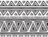 Tribal striped seamless pattern — Stock Vector