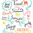 Hand drawn elements for summer design — Stock Vector #69935933