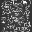 Hand drawn elements for summer design — Stock Vector #69935935