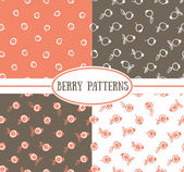 Berry Seamless Pattern backgrounds — Stock Vector