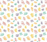 Hand Drawn Scribble Smears pattern — Stock Vector