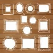 Set of hand drawn vector frames — Stock Vector