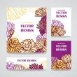 Mix collection floral banners — Vector de stock  #73020797