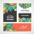Stylish floral banners. — Stock Vector #73020891