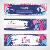Set of three vector banners. — Stock Vector