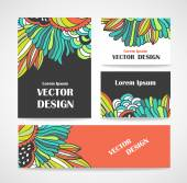 Stylish floral banners. — Stock Vector