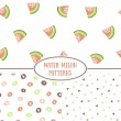 Seamless pattern with water-melons. — Stock Vector #79789568
