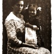 Vintage photo: mother and daughter — Stock Photo #52373149