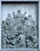 Bas-relief Christianization of Kievan Rus — Zdjęcie stockowe