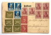 Vecchia cartolina postale — Foto Stock