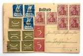 Old post card  — Stockfoto