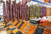 Nuts and local caucasian sweets on public market, Pyatigorsk, Russia — Stock Photo
