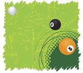 Green billiard motive — Stock Vector