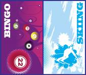 Vertical ski and bingo banners — Vector de stock