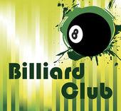 Black billiard ball — Stock Vector