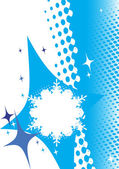 Winter banner.Abstract snowflake — Stock vektor