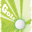 Super golf ball and big green explosion.Green background — Stock Vector #77044695